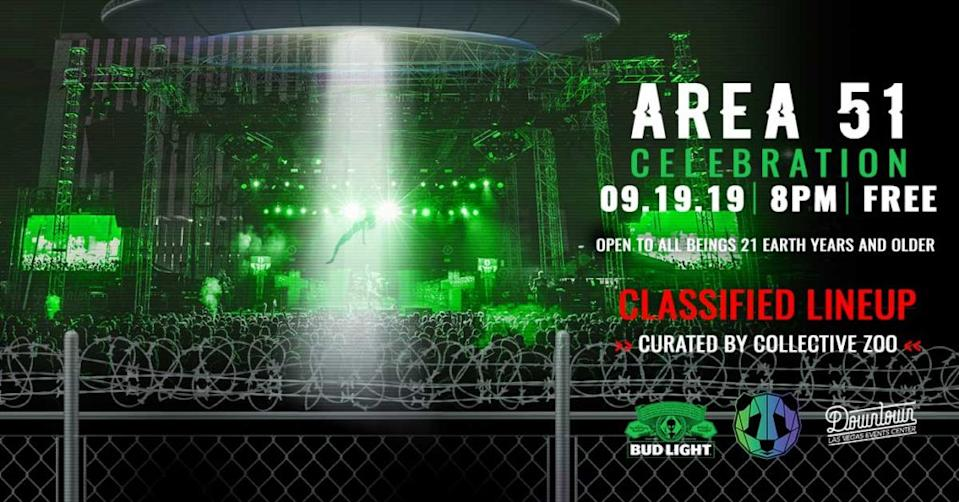 Area 51 Celebration in downtown Las Vegas will replace AlienStock, a canceled event in Nevada. (Photo: Collective Zoo)