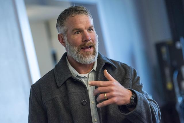 Brett Favre during an interview in 2016. (Getty)