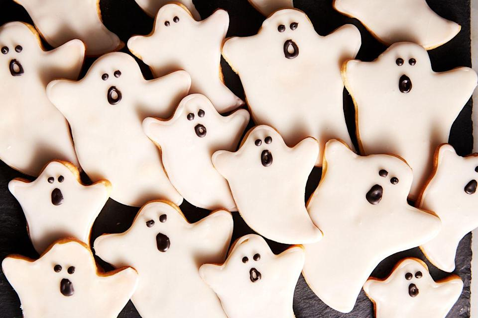 """<p>Our favorite kid-approved Halloween cookie. </p><p>Get the recipe from <a href=""""https://www.delish.com/holiday-recipes/halloween/a28637917/ghost-cookies-recipe/"""" rel=""""nofollow noopener"""" target=""""_blank"""" data-ylk=""""slk:Delish"""" class=""""link rapid-noclick-resp"""">Delish</a>.</p>"""