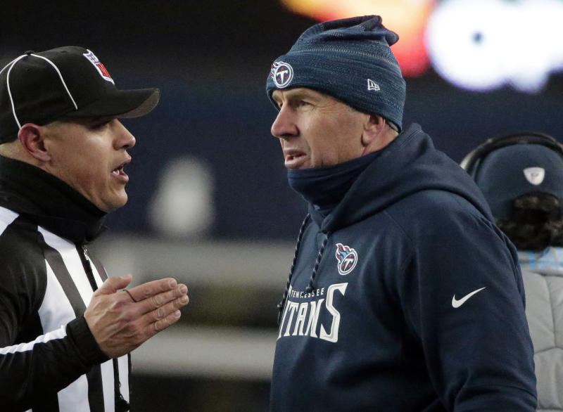 Titans coach Mike Mularkey had beef with an official. Tennessee fans may have had beef with some of the play-calling overall. (AP)
