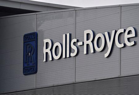 FILE PHOTO: A Rolls-Royce logo is seen at the company's aerospace engineering and development site in Bristol, Britain, December 17, 2015.  REUTERS/Toby Melville/File Photo