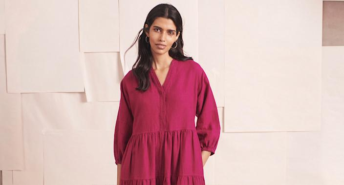 The M&S midi dresses we're adding to our basket ASAP. (Marks & Spencer)
