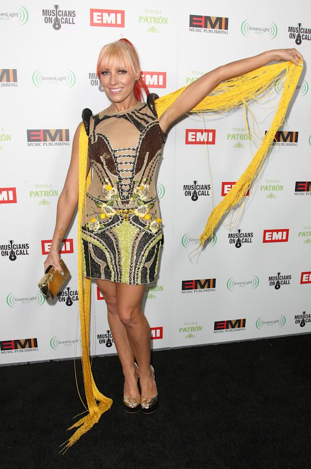 HOLLYWOOD, CA - FEBRUARY 12:  Recording artist Bonnie McKee attends the EMI GRAMMY After Party at the Capital Records Building on February 12, 2012 in Hollywood, California.  (Photo by Frederick M. Brown/Getty Images)