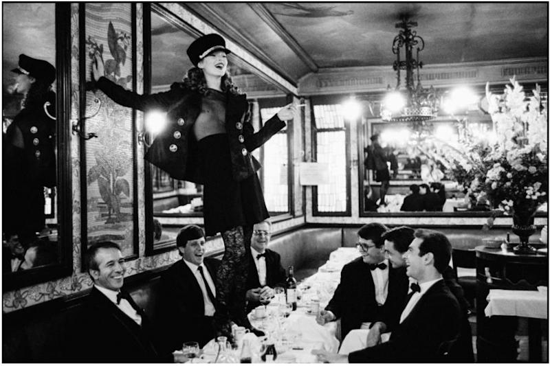 'Kate Moss at Cafe Lipp, Paris' by Arthur Elgort for Vogue Italia (1993)