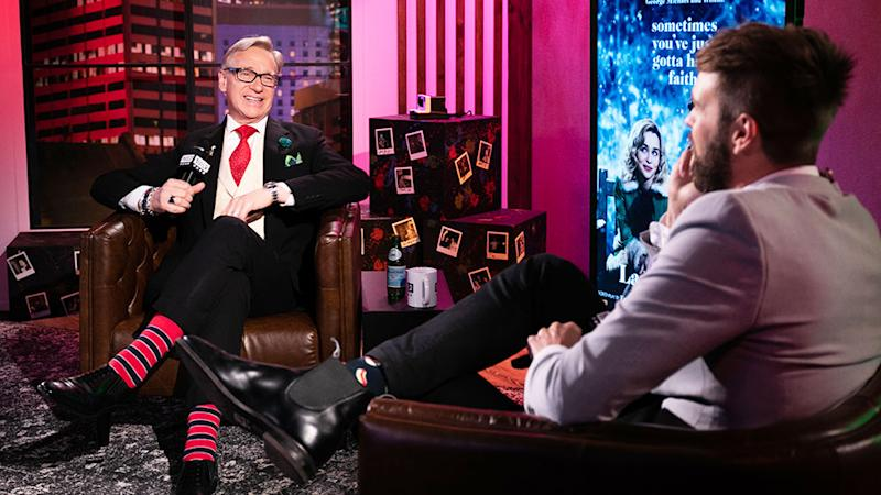 Bridesmaids director Paul Feig chatted to host Danny Clayton about his new Christmas film. Photo: BUILD Sydney studio.