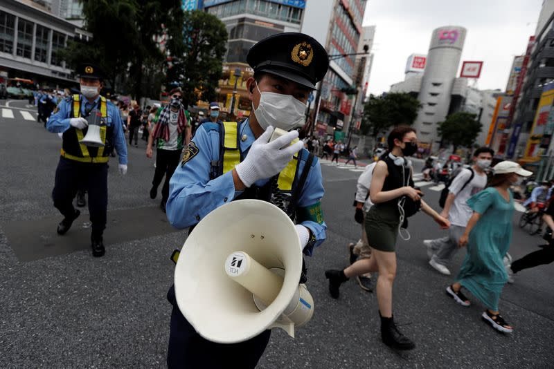 Protest march over the alleged police abuse of a Turkish man in echoes of a Black Lives Matter protest, following the death of George Floyd who died in police custody in Minneapolis, in Tokyo