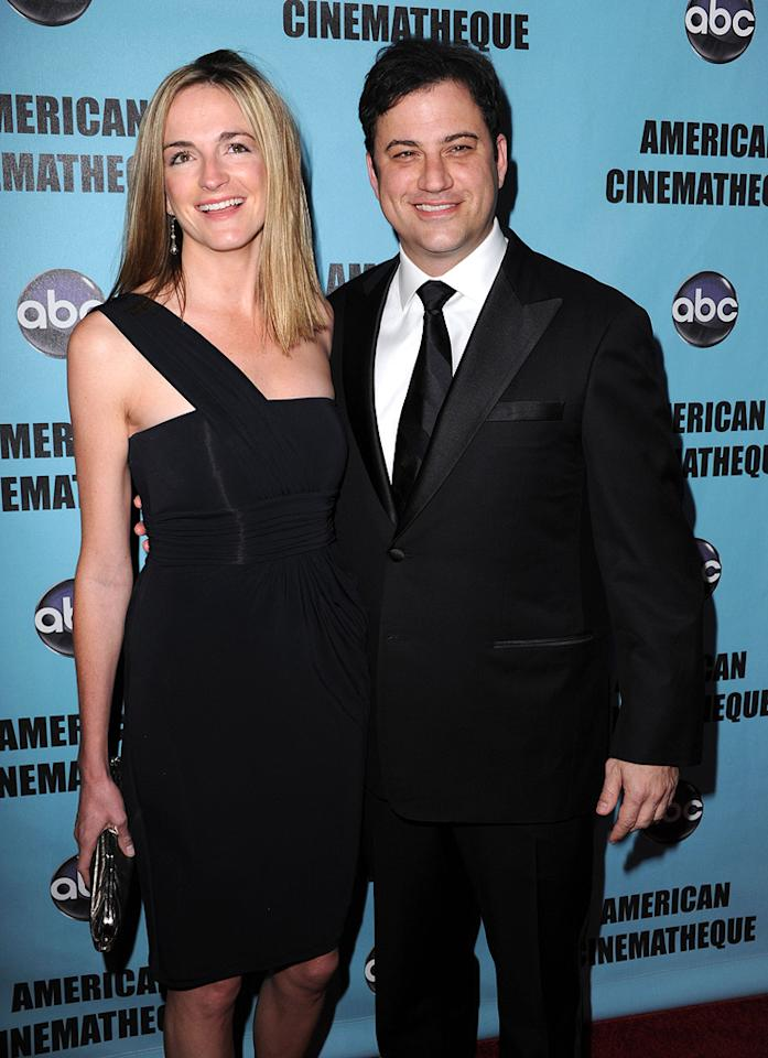 "<a href=""http://movies.yahoo.com/movie/contributor/1807455762"">Jimmy Kimmel</a> and guest at the 24th American Cinematheque Annual Gala Honoring Matt Damon on March 27, 2010."