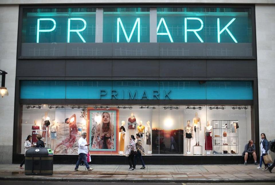 File photo dated 29/05/18 of a branch of Primark on Oxford Street, central London. (PA Wire)