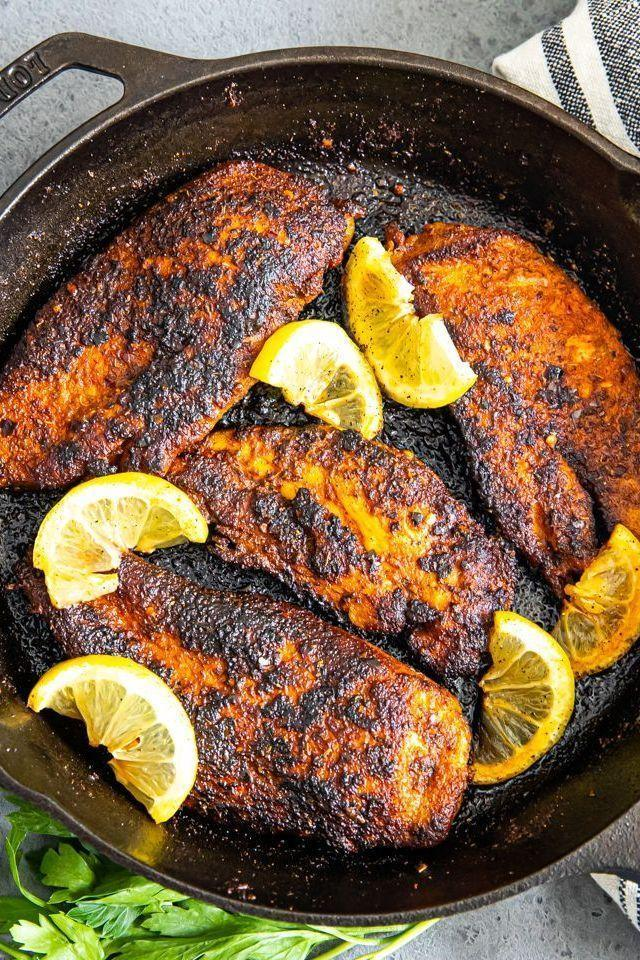 "<p>Featuring big, bold, and spicy Cajun flavours, this blackened chicken recipe is so delicious and super easy to make. It's called ""blackened"" chicken because the heavily browned outer crust made possibly by preheated hot pan. </p><p>Get the <a href=""https://www.delish.com/uk/cooking/recipes/a35027985/blackened-chicken-recipe/"" rel=""nofollow noopener"" target=""_blank"" data-ylk=""slk:Blackened Chicken"" class=""link rapid-noclick-resp"">Blackened Chicken</a> recipe.</p>"