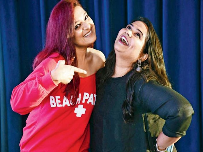 Comedians Kaneez Surka and Sumukhi Suresh. Picture courtesy: Mid-day