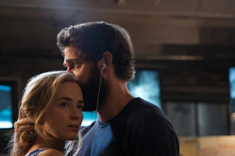 "Evelyn Abbott (Emily Blunt) and Lee Abbott (John Krasinski) share a dance and headphones in ""A Quiet Place."" (Jonny Cournoyer/Paramount Pictures)"