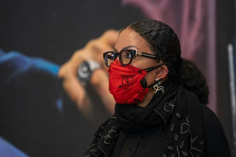 "Malcolm X's daughter Ilyasah Shabazz, pictured February 20, 2021 during a press conference in New York, called for any new evidence in the case of her father's death to be ""thoroughly investigated"""
