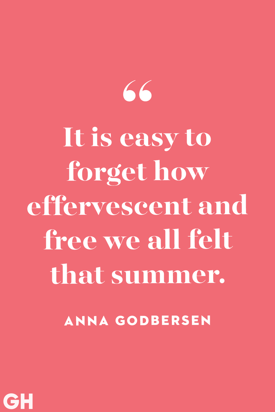 <p>It is easy to forget how effervescent and free we all felt that summer.</p>