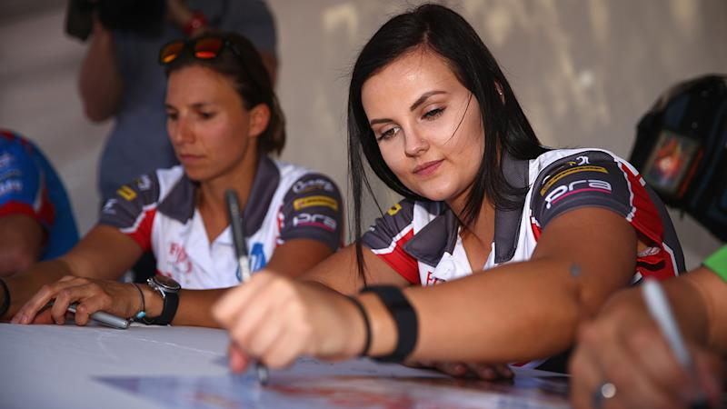 Renee Gracie, pictured here before the Bathurst 1000 in 2015.