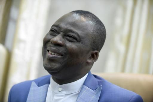 Founder of Mountain of Fire and Miracles Ministries church Pastor Daniel Olukoya speaks at the international headquarters of the church in the Yaba district of Lagos
