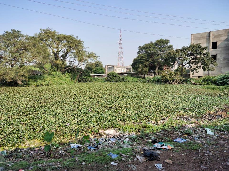 The Lal Diggi kund before the cleanup