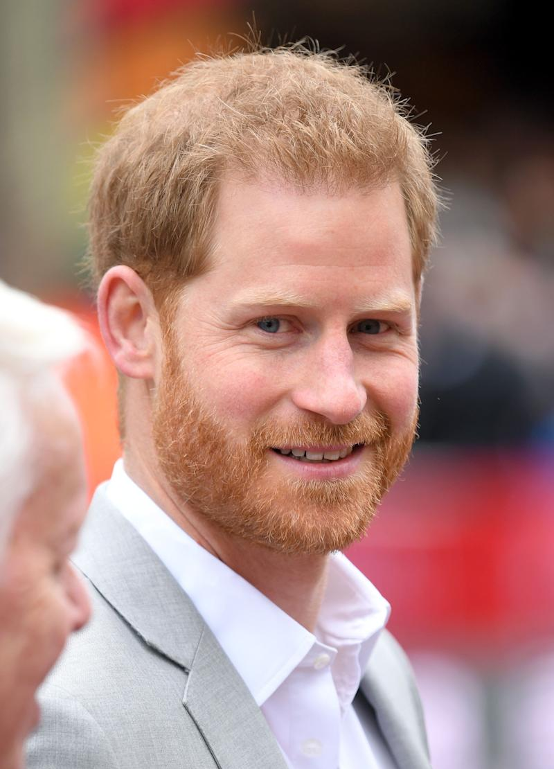 LONDON, ENGLAND - APRIL 28: Prince Harry, Duke of Sussex attends the Virgin London Marathon 2019 on April 28, 2019 in London, United Kingdom. (Photo by Karwai Tang/WireImage)