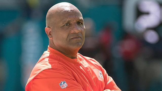Browns coach Hue Jackson didn't offer any insight as to whom the team would select with the top pick, but they will keep the selection.