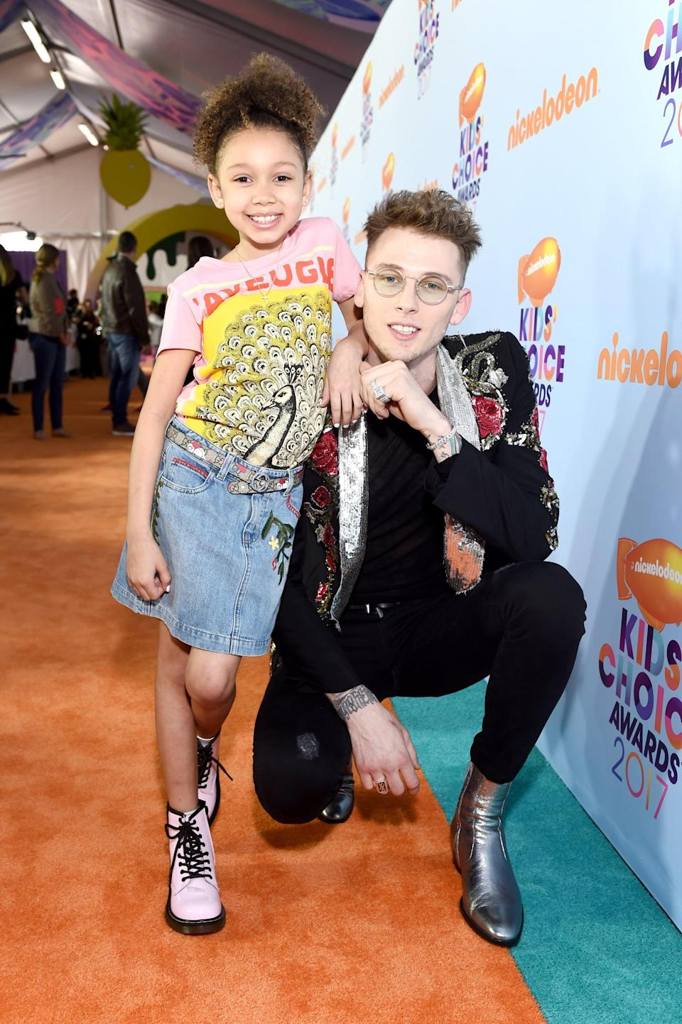 <p>Very little is known about Machine Gun Kelly's relationship with Emma, who doesn't appear to have any social media accounts. However, MGK has shared a few adorable red carpet moments with their daughter, Casie (pictured above).</p>