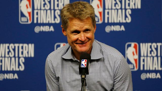 """Steve Kerr believes his Warriors will """"take care of business"""" in Game 6 of their series with the Rockets."""