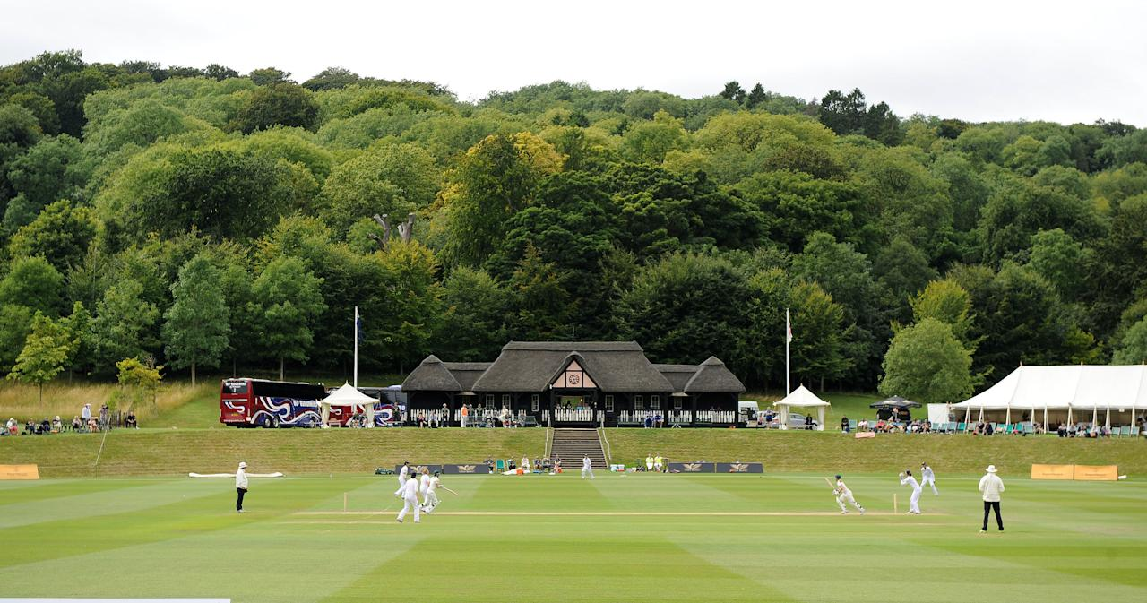 A view of the Pavilion at Wormsley Cricket Club as England playing Australia during day four of the First Women's Ashes test match at Wormsley Cricket Ground, High Wycombe.