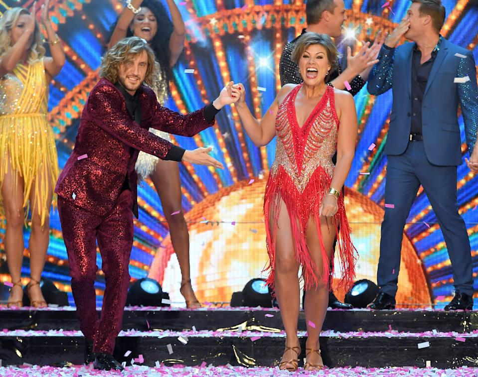 Seann Walsh and Kate Silverton at the red carpet launch for Strictly Come Dancing 2018.