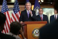U.S. House Minority Leader McCarthy holds a news conference with Republican House military veterans of the war in Afghanistan at the U.S. Capitol in Washington