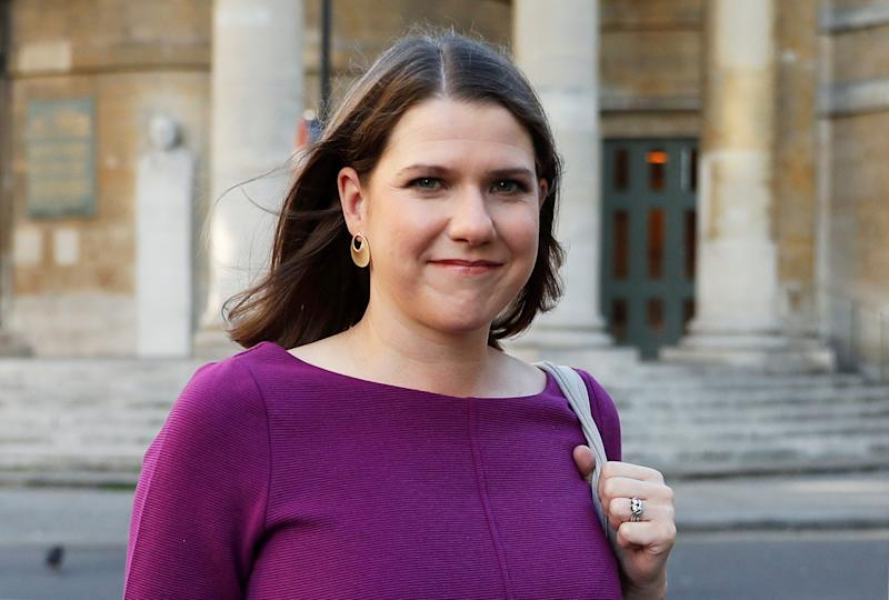 Britain's Liberal Democrats leader Jo Swinson leaves BBC studios in London, Britain, September 15, 2019. REUTERS/Peter Nicholls