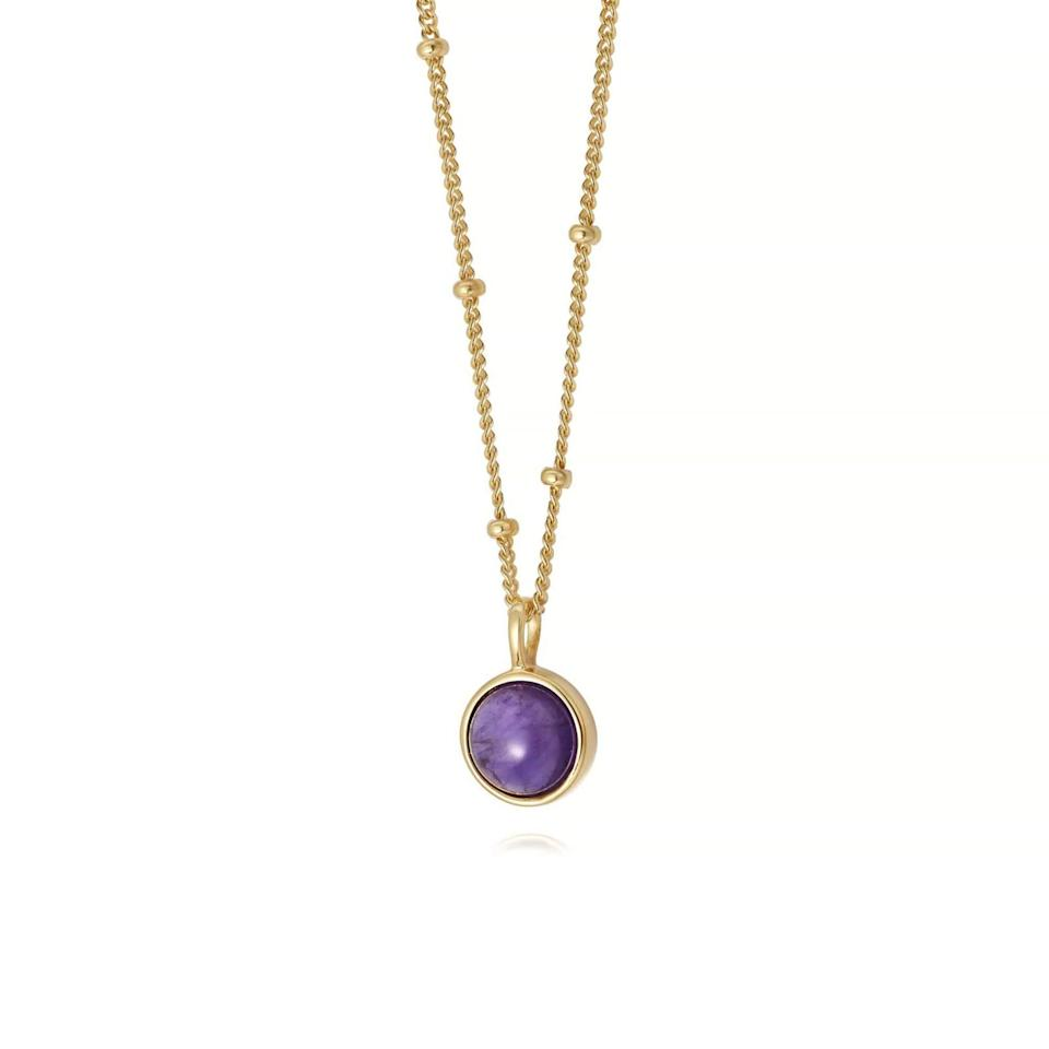 """<br><br><strong>Daisy</strong> Amethyst Healing Stone Necklace, $, available at <a href=""""https://go.skimresources.com/?id=30283X879131&url=https%3A%2F%2Fwww.daisyjewellery.com%2Fproducts%2Famethyst-healing-necklace-gold"""" rel=""""nofollow noopener"""" target=""""_blank"""" data-ylk=""""slk:Daisy"""" class=""""link rapid-noclick-resp"""">Daisy</a>"""