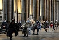 England's Salisbury cathedral transformed itself into a covid vaccination hub