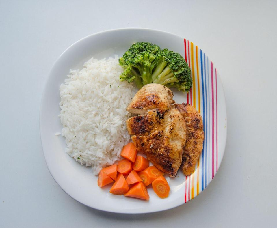 <p>When serving food to yourself or your family, opt for smaller portions rather than something large. Most of us are eating huge portions that we don't finish, and then the leftovers are going in the garbage. You're better off serving a smaller portion - people can always go back for seconds.</p>