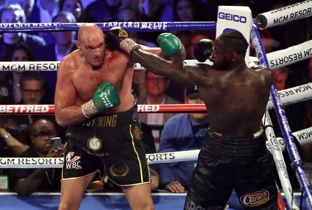 Tyson Fury is not thinking about a third match with Deontay Wilder (Bradley Collyer/PA)