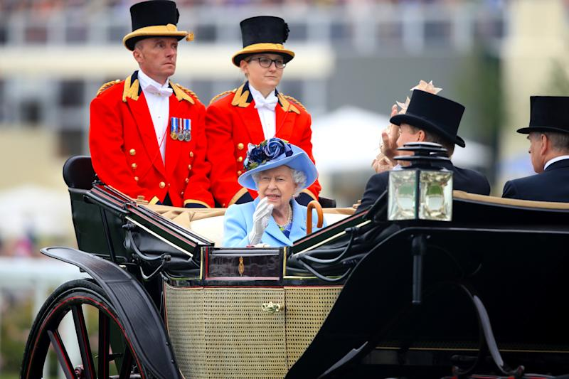 Queen Elizabeth II during day one of Royal Ascot at Ascot Racecourse.