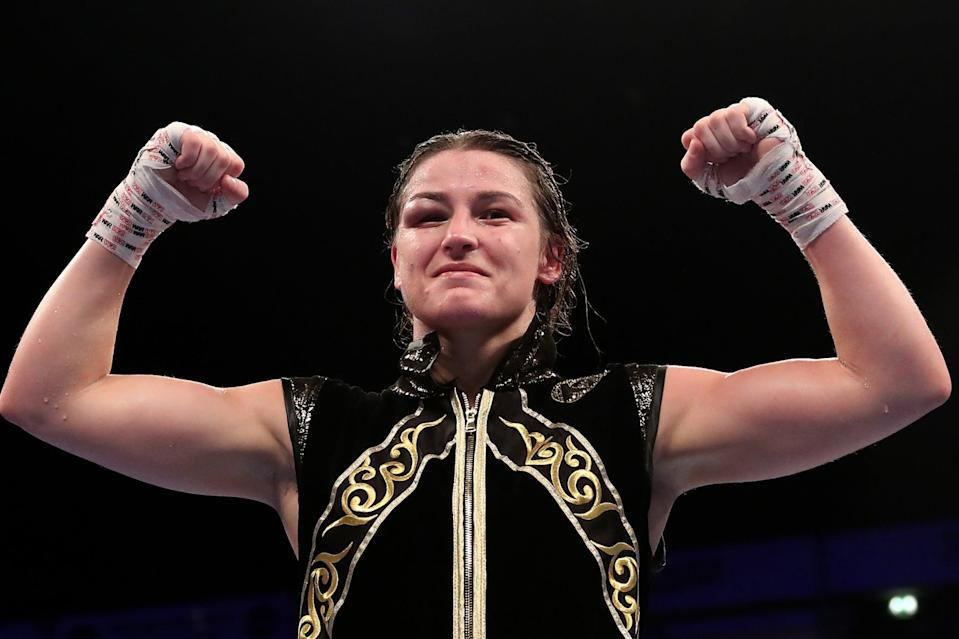 <p>Katie Taylor remains the undisputed lightweight champion of the world</p> (Getty Images)