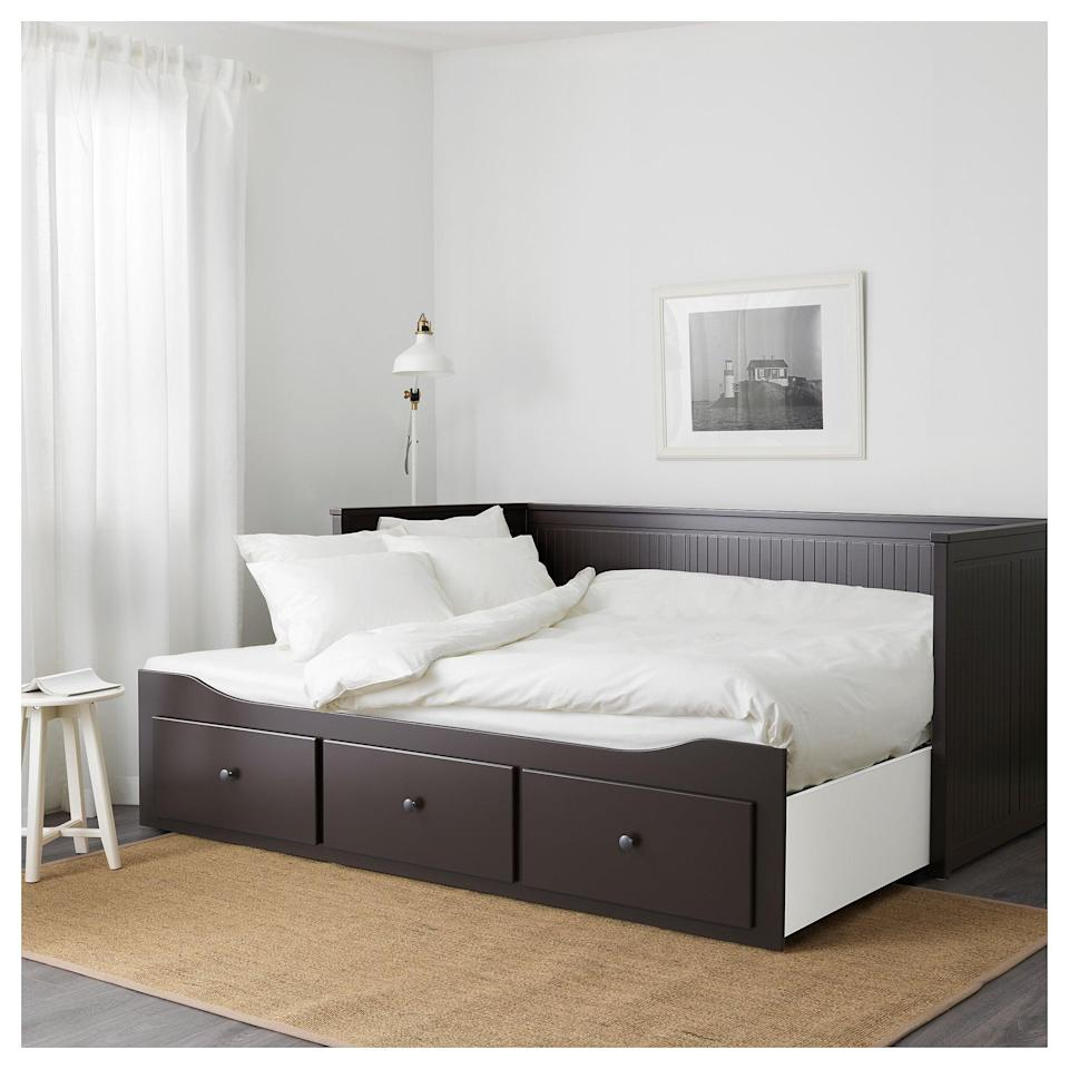 <p>Turn your <span>Hemnes Daybed Frame</span> ($299) into a double bed by simply pulling out the side. </p>