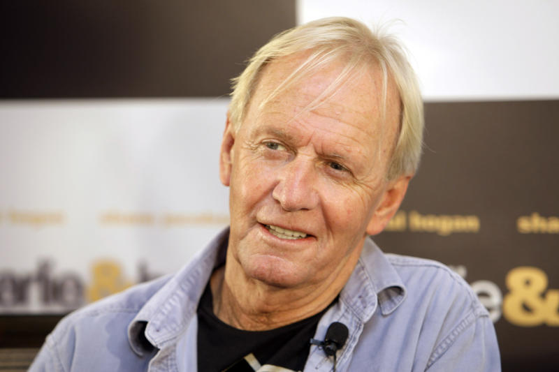 "FILE - In this Oct. 28, 2008 file photo Paul Hogan poses for a photo during a press conference for his movie ""Charlie and Boots"" at hotel in Sydney. The ""Crocodile Dundee"" star has resolved his seven-year battle with Australian tax authorities over alleged unpaid taxes dating back to his first international hit movie in the 1980s. Hogan and his friend and producer John Cornell said through their lawyer on Monday, April 30, 2012, the pair had reached a confidential settlement with tax authorities to resolve over 150 million Australian dollars ($156 million) in alleged unpaid taxes and penalties.  (AP Photo/Rick Rycroft, File)"