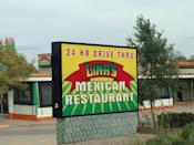 """<p><a href=""""https://www.yelp.com/biz/linas-mexican-food-des-moines-2"""" rel=""""nofollow noopener"""" target=""""_blank"""" data-ylk=""""slk:Lina's Mexican Food"""" class=""""link rapid-noclick-resp"""">Lina's Mexican Food</a> in Des Moines</p><p>Yelpers love the breakfast burritos and quesadillas (topped with from-scratch red salsa, for a kick) from this convenient drive-thru.</p>"""