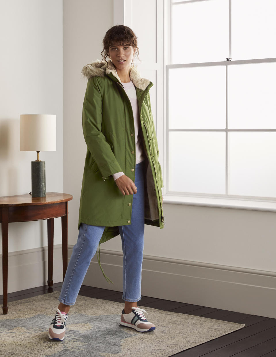 The £190 Dunbar Parka is finally back in stock. (Boden)