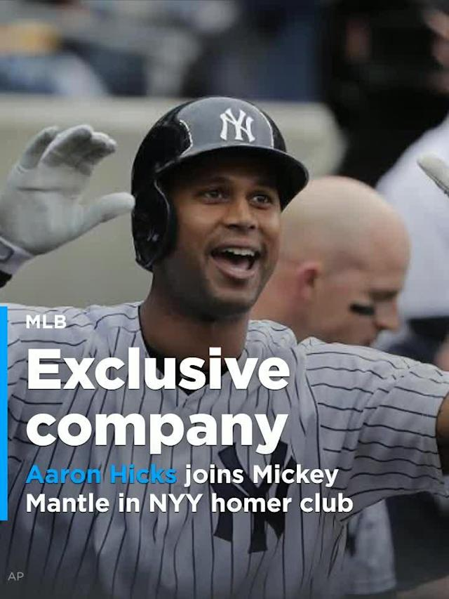 In the third inning, Hicks became the first Yankees player to hit multiple inside-the-park home runs in the same season since Mantle hit three of them back in 1958.