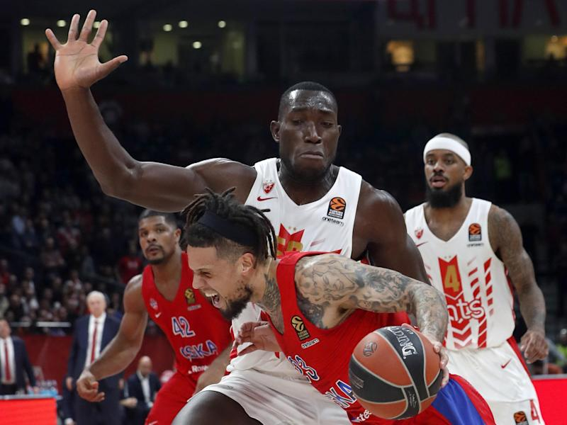 Michael Ojo, centre wearing white, moved to Serbia from Florida State: AP