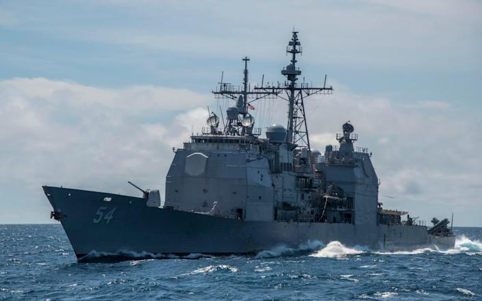 The US Navy said it will 'continue to fly, sail and operate anywhere international law allows' - REX