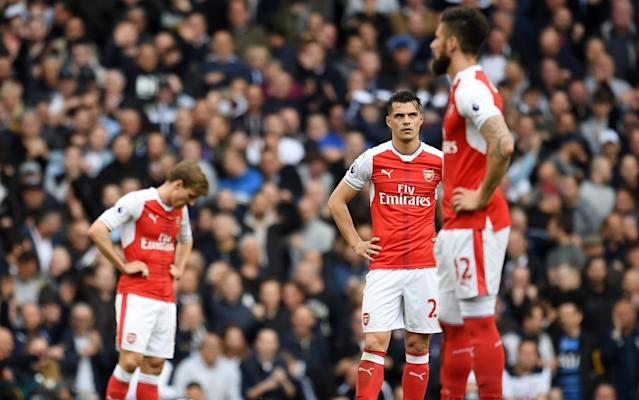 Arsenal were comfortably beaten by a rampant Tottenham team - EPA
