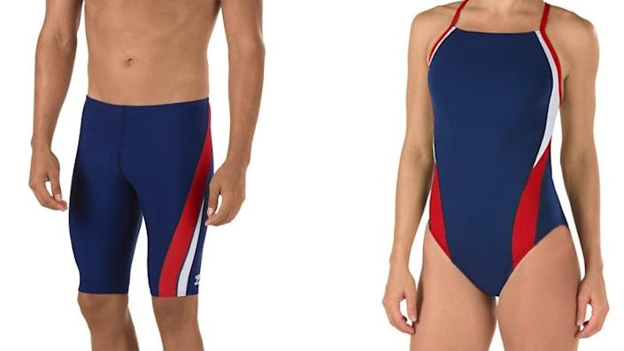 These sleek suits are a great way to show your Team USA pride.