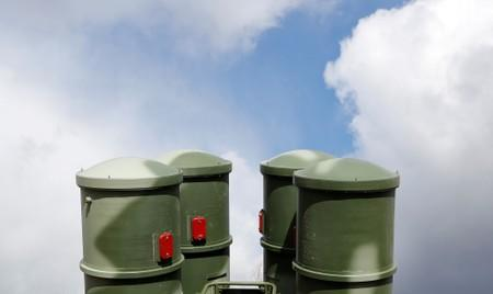 FILE PHOTO: A view shows S-400 surface-to-air missile system after its deployment near Kaliningrad