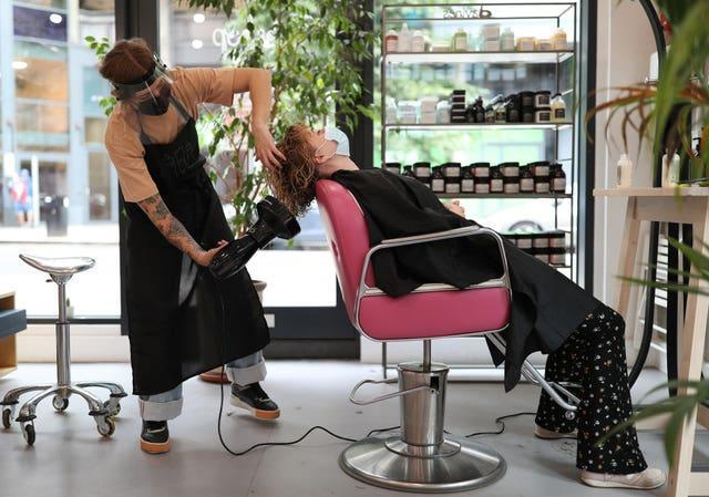 Hairdressers and nail salons could reopen from April 12