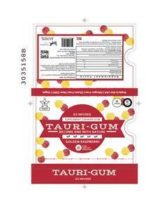 Image of Golden Raspberry Flavor Tauri-gum™ Blister Pack Design