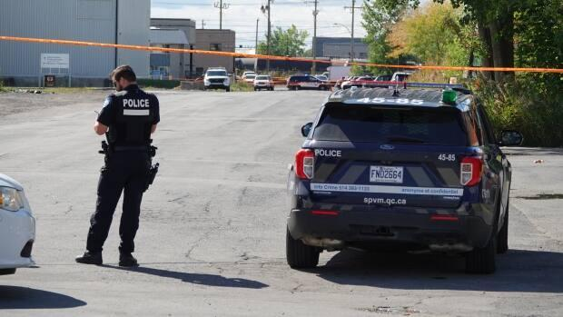 Police say the 33-year-old man was found with at least one bullet wound.  (Mathieu Wagner/Radio-Canada - image credit)
