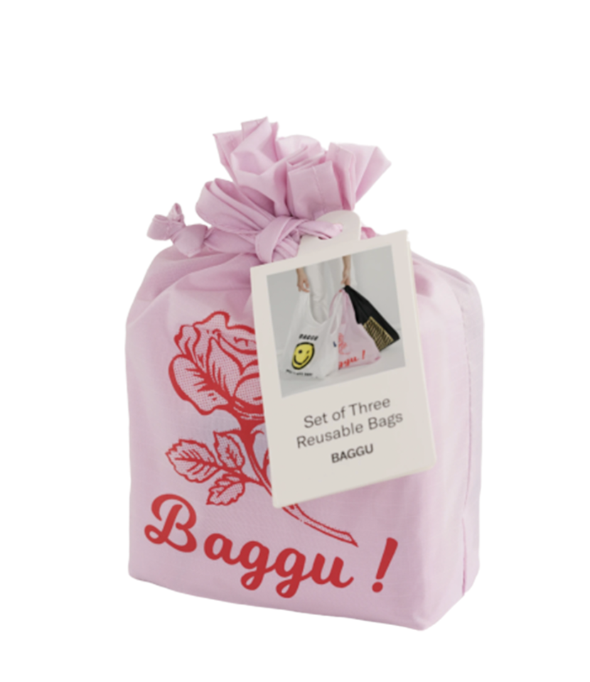 "This <a href=""https://fave.co/2IJ8WGI"" rel=""nofollow"" target=""_blank"">three-pack</a> from Baggu includes a pretty pink rose bag, plus two totes designed to look like your typical takeout bags—but secretly machine-washable and made of 40% recycled materials. Nobody has to know! $36, Baggu. <a href=""https://baggu.com/products/standard-baggu-set-of-3-thank-you"">Get it now!</a>"