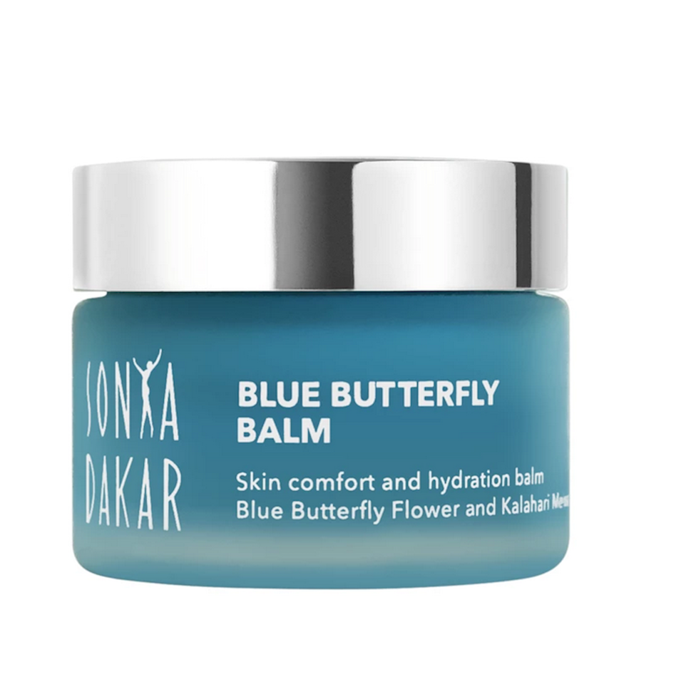 "<p>This balm comes with a tagline: ""skim comfort and hydration balm."" Aside from how supremely pleasant that sounds, we have full faith in Sonya Dakar, aesthetician to Gwyneth Paltrow. It's formulated mango butter, shea butter, and lots of coconut to soothe irritated skin and calm redness.</p> <p><strong>$85</strong> (<a href=""https://sonyadakar.com/collections/moisturizers/products/blue-butterfly-balm"" rel=""nofollow"">Shop Now</a>)</p>"