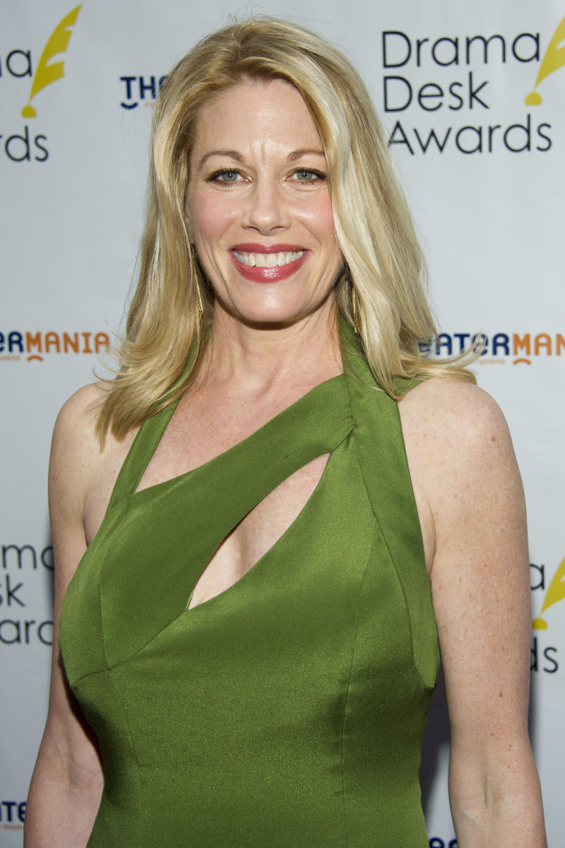 """FILE - In this June 3, 2012 file photo, Marin Mazzie arrives at the 57th Annual Drama Desk Awards in New York. Producers on Thursday, Dec. 5, 2013 said Mazzie will play aging diva Helen Sinclair in the Broadway musical based on Woody Allen's crime caper """"Bullets Over Broadway."""" (Photo by Charles Sykes/Invision/AP, File)"""